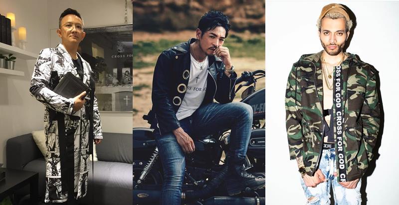 目前品牌已在台灣、日本及好萊塢設點,許多名人也會選擇其服裝做造型。左為iM教會主任牧師松慕強、中為日籍藝人夢多、右為美國藍調歌手Kalin White。