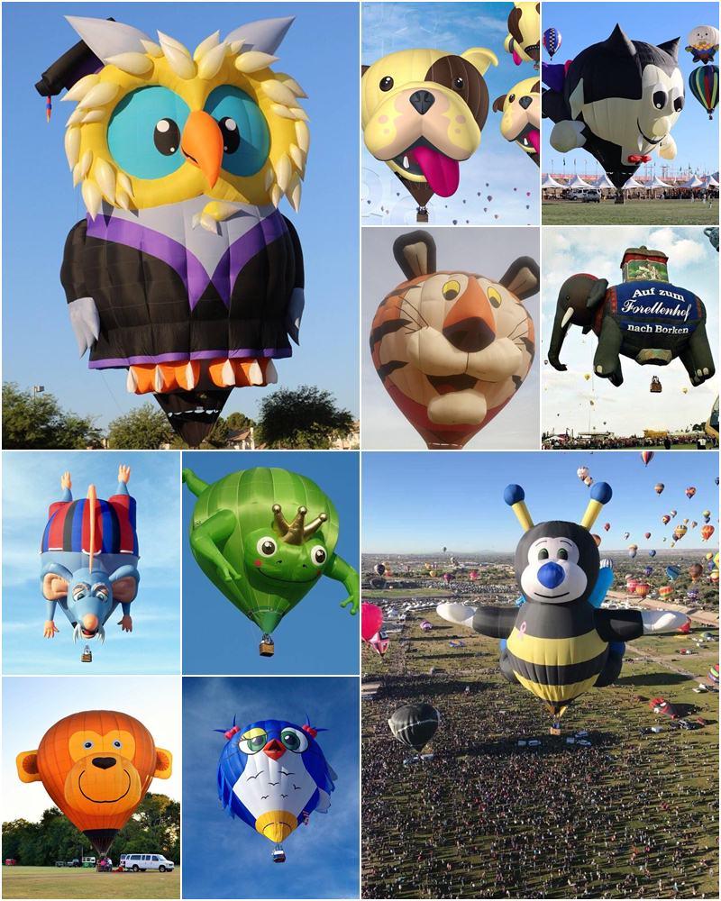其他造型的熱氣球,吸睛指數高,今年共有39顆飛揚天際。