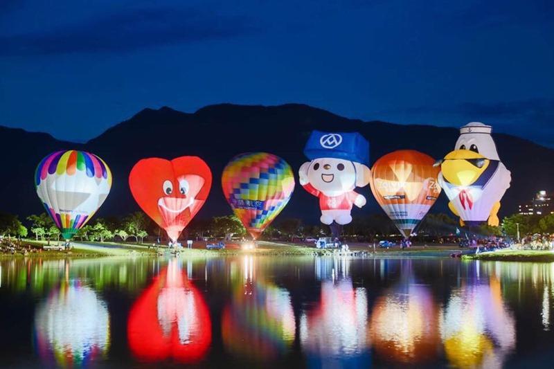 熱氣球景色,讓許多造訪民眾讚嘆,並且期待。