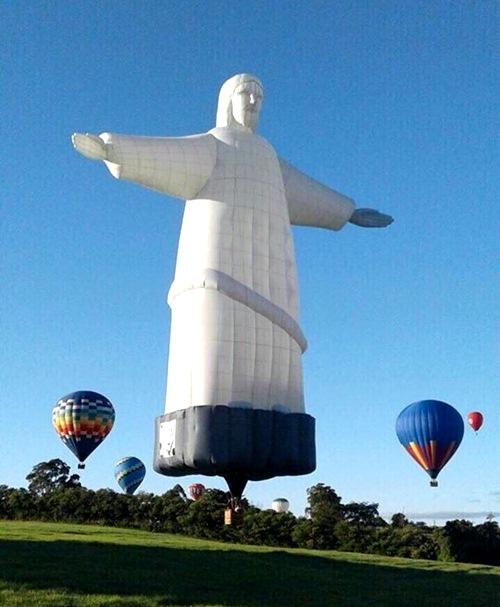 有坐過耶穌像的熱氣球嗎?