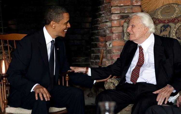 2010年4月25日,時任美國總統歐巴馬至葛理翰牧師北卡州家中探望。
