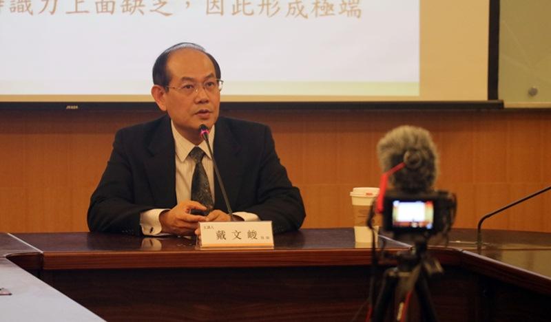 講座發表人戴文峻牧師,主要聚焦於1987至2017年間台灣眾教會的發展,並提出對其主流顯學的省思。
