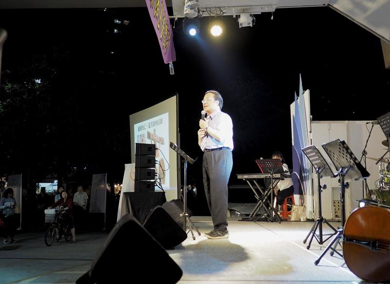 汐止152靈糧堂主任牧師楊金章分享信息。
