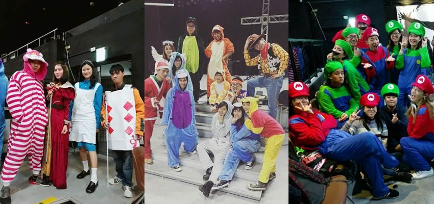 各個小組發揮創意,打扮成卡通角色、電影角色等。